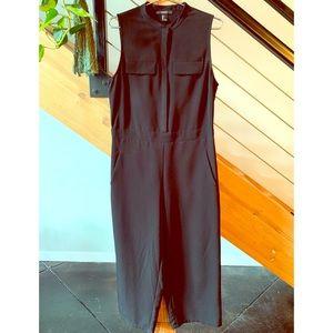 Black Sleeveless Jumpsuit, Large